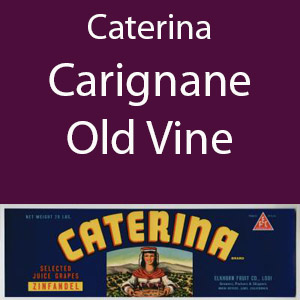 Caterina Carignane Old Vine Clement Hills AVA Base of Sierra Foothills