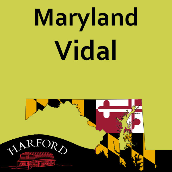 Maryland Vidal (Note all Maryland Grape please email your order for availability  to mail@harfordvineyard.com)