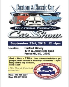 Custom & Classic Car Show @ Harford Vineyard | Forest Hill | Maryland | United States