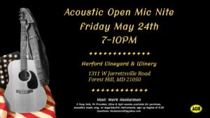 Acoustic Open Mic Night @ Harford Vineyard & Winery