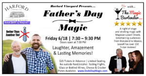 Father's Day Weekend Magic Show @ Harford Vineyard